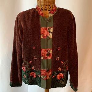 Napa Valley Vintage Large Jacket with bead/floral detail